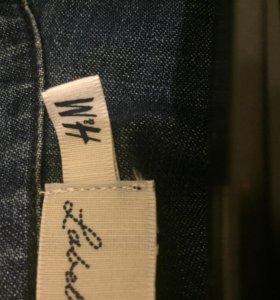 Джинсовая рубашка H&M размер М рост 175