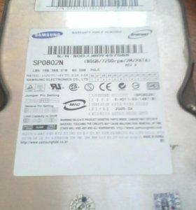 Жесткий диск samsung 80GB.