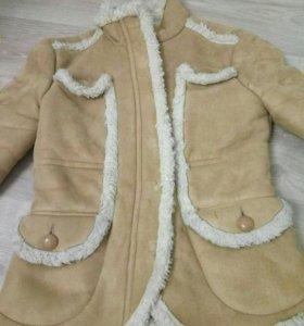 Дубленка меховушка Mango куртка