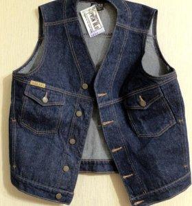 Жилетка производство США из катона (джинсы)