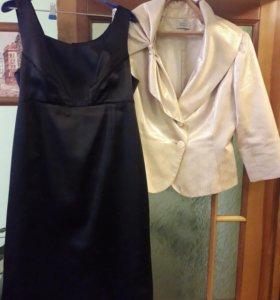 Комплект нарядный двойка: платье и пиджак