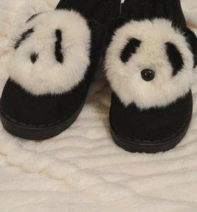 Тапочки женские панды