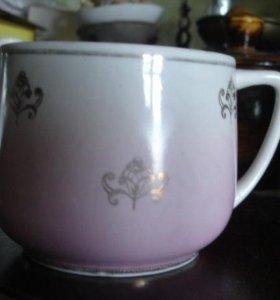 Чашка и десертная тарелочка Вербилки+кофейная пара