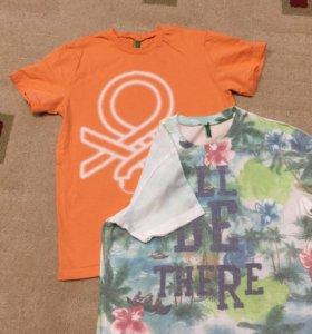 Пакетом футболки на 9 лет