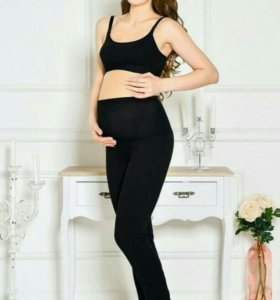 Брюки для беременных с начесом на круговом бандаже