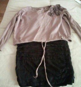 Продам короткое платье,в комплекте с ковтой.