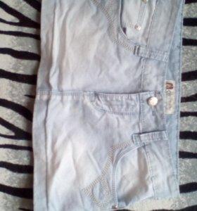 Мини юбка джинсовая