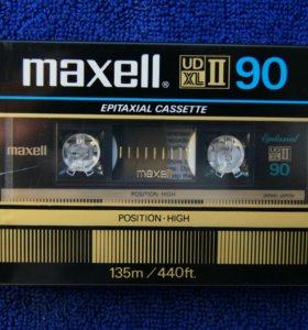 Аудиокассета MAXELL UD XL II 90. 1982 год