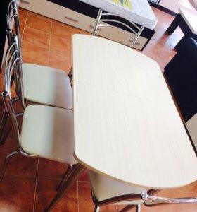 Новый стол в комплекте со стульями(кол-во огран.)