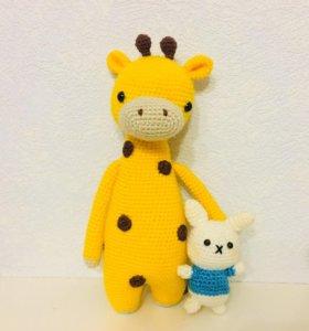 Жираф и зайка