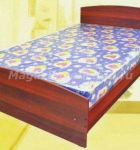 Кровать 1.5 спальная с матрацом