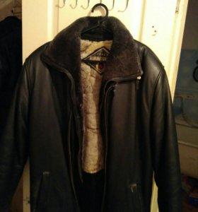 Кожаная куртка (из чистой кожи, размер 48-50)