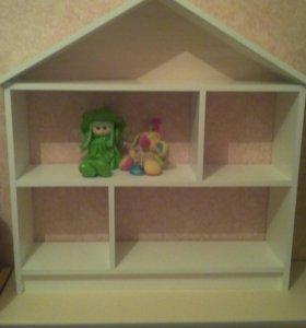 Домик пристенный для игрушек