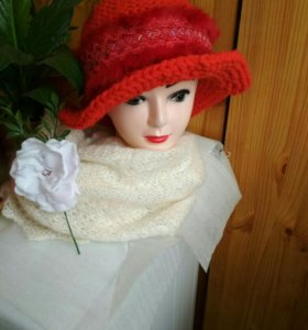 шляпы женские элегантные связанные из толстой каче