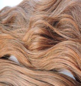 Волосы натуральные на заколках 100 гр. 50 см. 8#