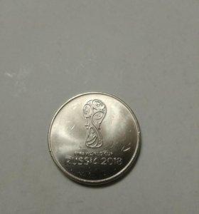 Монета Fifa world cup RUSSIA 2018 года (25 руб).