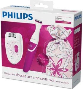 Новый комплект эпилятор+триммер бикини Philips