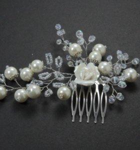 Свадебное украшение для волос.