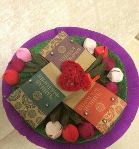 Весенний Букет из конфет и чая