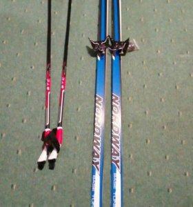 Лыжи, новые