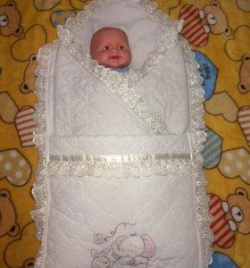 Конверт+одеяло на выписку