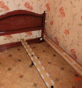 Новая кровать из массива сосны