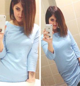 Голубое платье М