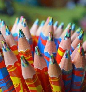 Карандаш многоцветный