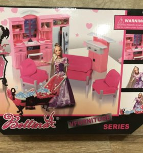 Мебель для барби с куклой