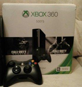 Xbox 360 500GB + 6 игр