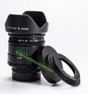 Гелиос 44-2 + M42-Canon EOS с чипом бленда крышки