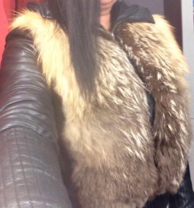Куртка кожаная утеплённая