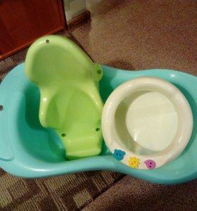 Ванночка, горка, сидение, круг, пеленалая доска .