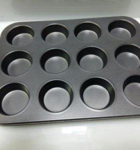 Форма для выпечки 12 маффинов, капкейков, кексов