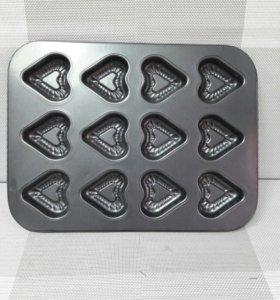 Форма для выпечки фигурных кексов (3 вида)
