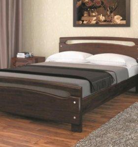 Двуспальная кровать массив 1.4 с основанием