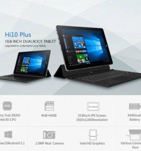 Планшет Chuwi Hi10 Plus+клавиатура, Win 10+Андройд