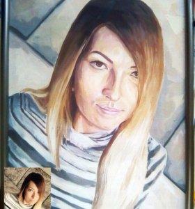 Портреты на заказ по фото