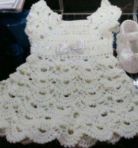 Платье и пинетки-туфельки