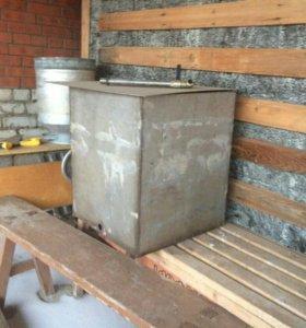 Бак для бани из нержавейки с крышкой