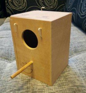 Домик-гнездо для попугая