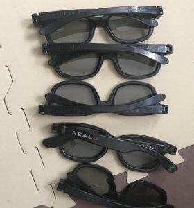 Очки 3 D для кинотеатров Синема парк