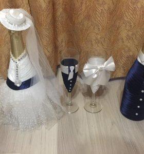 Свадебное платье , новое + аксессуары