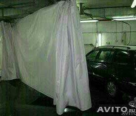 Занавеска или штора в гараж из банера б/у