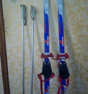 Лыжи детские+палки