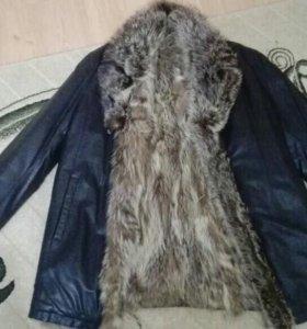 Куртка зимняя,кожаная, мужская