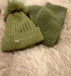 Модный зимний комплект. Снуд и шапка