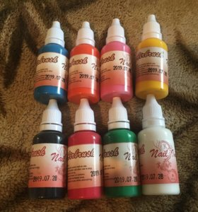 Краски для аэрографа. Airbrush Nail ink.