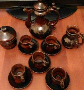 Старинный керамический чайный сервиз