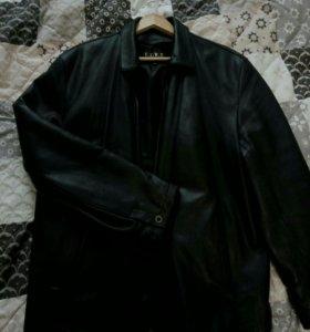 Мужская кожаная куртка 54 размер